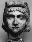unk mayb helen or fausta Marble. Late 3rd — early 4th centuries. (1)