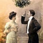 Mistletoe photo vintage- vischio-tradizione-capodanno-non-si-dice-piacere