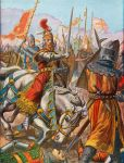 Frederick Barbarossa is wounded at the battle of Legnano, 1176
