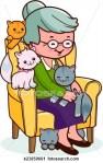 donna con gatti