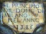 data di inizio del Duomo